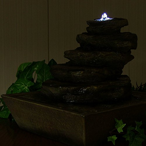 Sunnydaze-Cascading-Rocks-Tabletop-Fountain-with-LED-Lights-12-Inch-Tall-0-1