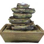 Sunnydaze-Cascading-Rocks-Tabletop-Fountain-with-LED-Lights-12-Inch-Tall-0