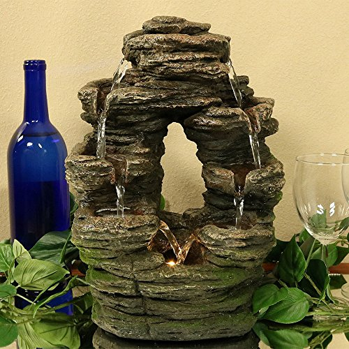 Sunnydaze-Split-Mossy-Rock-Falls-Tabletop-Water-Fountain-with-LED-Light-10-Inches-Wide-x-14-Inch-Tall-0-0