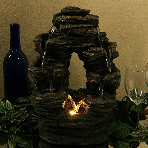 Sunnydaze-Split-Mossy-Rock-Falls-Tabletop-Water-Fountain-with-LED-Light-10-Inches-Wide-x-14-Inch-Tall-0-1