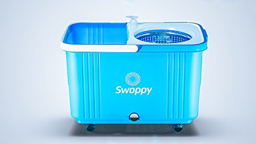Swoppy-Double-Spin-Mop-Deluxe-With-Stainless-Steel-Bucket-Wringer-Two-Microfibre-Mop-Heads-Best-Spin-Mop-360-Spinning-Mop-2-Year-Warranty-Perfect-System-For-Floor-Cleaning-0-0