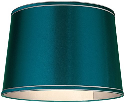 Sydnee-Satin-Teal-Blue-Drum-Lamp-Shade-14x16x11-Spider-0-0