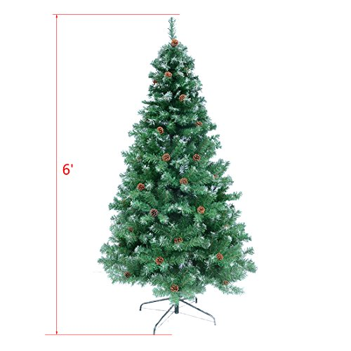 TOCO-Premium-Hinged-Artificial-ChristmasTree-with-Solid-Metal-Legs-Full-Tree-0-0