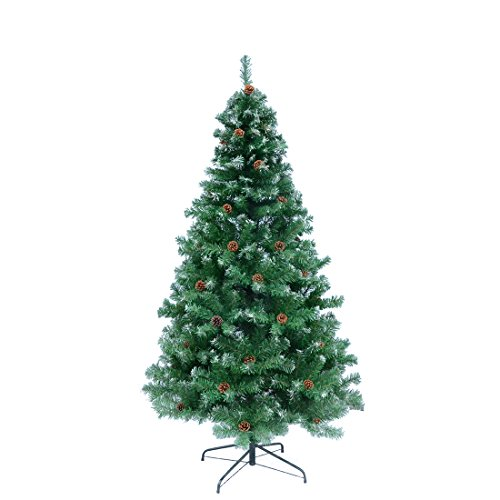 TOCO-Premium-Hinged-Artificial-ChristmasTree-with-Solid-Metal-Legs-Full-Tree-0
