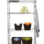 TRINITY-EcoStorage-5-Tier-NSF-Wire-Shelving-Rack-with-Wheels-36-by-18-by-72-Inch-Chrome-0