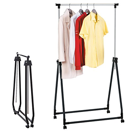 Tatkraft-Halland-Collapsible-Adjustable-Clothes-Rack-Hanger-on-Wheels-89X49X99-167cm-0-0