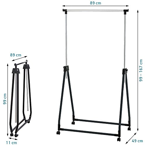 Tatkraft-Halland-Collapsible-Adjustable-Clothes-Rack-Hanger-on-Wheels-89X49X99-167cm-0-1