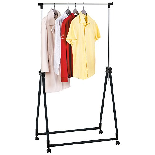 Tatkraft-Halland-Collapsible-Adjustable-Clothes-Rack-Hanger-on-Wheels-89X49X99-167cm-0