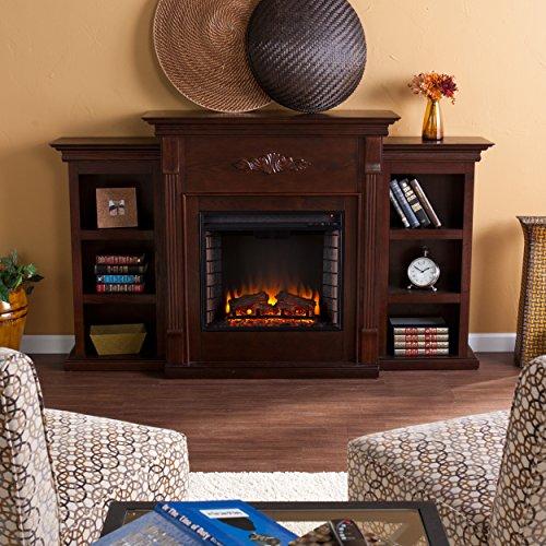Tennyson-Electric-Fireplace-w-Bookcases-Glazed-Pine-0-0