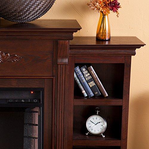 Tennyson-Electric-Fireplace-w-Bookcases-Glazed-Pine-0-1