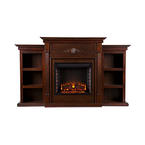 Tennyson-Electric-Fireplace-w-Bookcases-Glazed-Pine-0