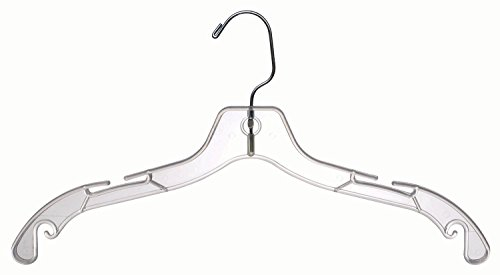 The-Great-American-Hanger-Company-Plastic-Top-Hangers-Clear-100-Pieces-0