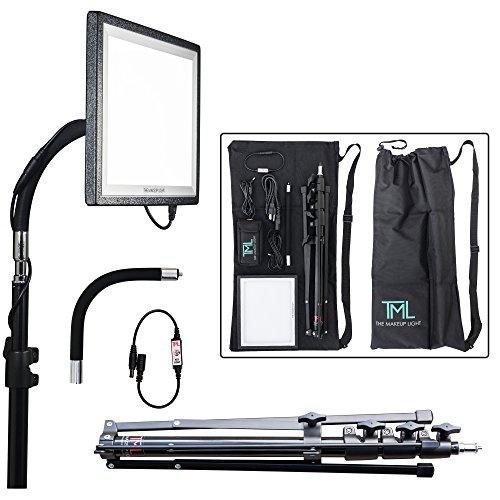 The-Makeup-Light-Key-Light-Starter-Package-OnyxBlack-with-Stand-Adjustable-Gooseneck-Shoulder-Bag-0