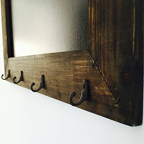 The-Rustic-Heritage-Home-Chalkboard-With-Hooks-Handcrafted-Fir-and-MDF-Slate-Finished-Board-21-34-x-06-x-15-34-inches-By-Whole-House-Worlds-0-1