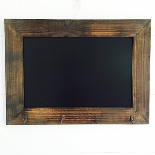 The-Rustic-Heritage-Home-Chalkboard-With-Hooks-Handcrafted-Fir-and-MDF-Slate-Finished-Board-21-34-x-06-x-15-34-inches-By-Whole-House-Worlds-0