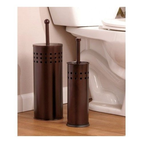 Toilet-Brush-Holder-Plunger-Set-Stainless-Steel-or-Bronze-Set-Perfect-Cleaning-Set-Bathrooms-Perfect-Gift-for-House-Warming-Gift-or-College-Dorms-Toilet-Bowl-Brushes-Plungers-Are-a-Necessity-for-Any-H-0