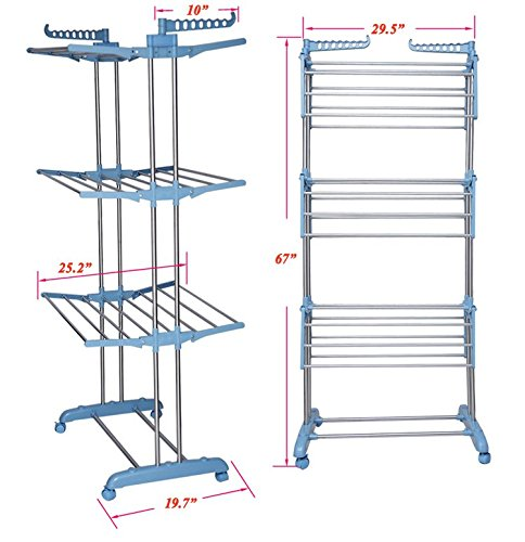 Tommly-Stainless-Steel-Foldable-Clothes-Drying-Rack-0-0