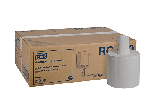 Tork-Universal-RC530-Centerfeed-Paper-Towel-2-Ply-76-Width-x-1175-Length-White-Case-of-6-Rolls-530-per-Roll-3180-Towels-0