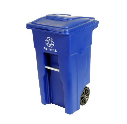 Toter-Residential-Heavy-Duty-2-Wheeled-Recycling-Container-Cart-with-Attached-Lid-Blue-0