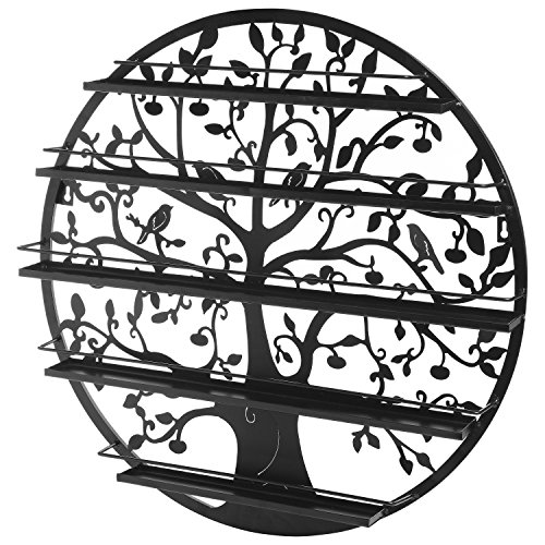 Tree-Silhouette-Round-Metal-Wall-Mounted-5-Tier-Salon-Nail-Polish-Rack-Holder-Wall-Art-Display-0-0