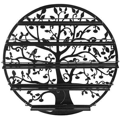Tree-Silhouette-Round-Metal-Wall-Mounted-5-Tier-Salon-Nail-Polish-Rack-Holder-Wall-Art-Display-0