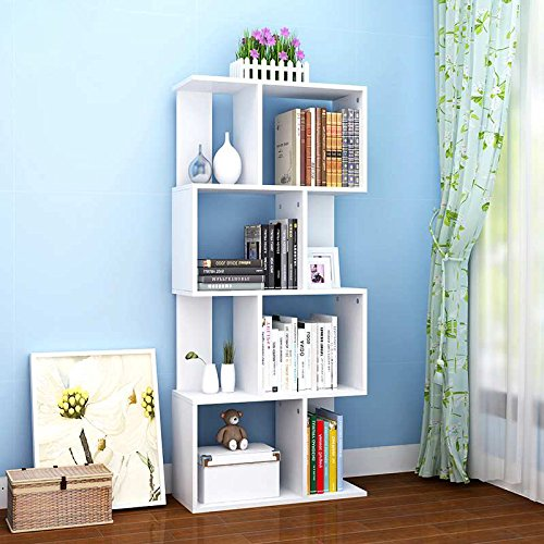 Tribesigns-Simple-Stylish-8-Shelf-Bookcase-Shelving-Display-Storage-Unit-for-CD-Book-Home-Decor-0