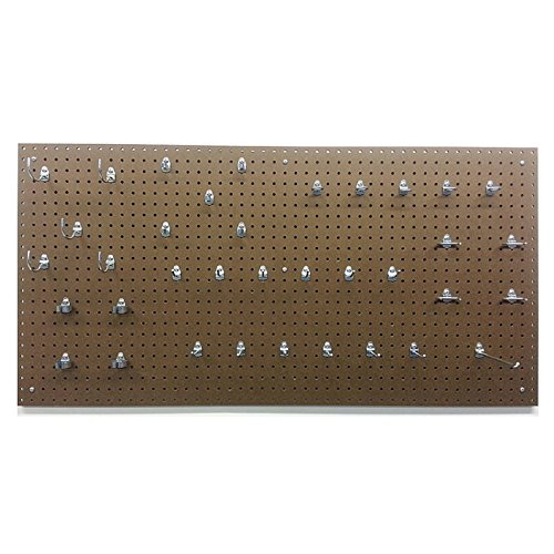 Triton-24W-x-48H-in-Commercial-Grade-Round-Hole-Pegboards-with-36-Piece-Locking-Hook-Assortment-Kit-0-0