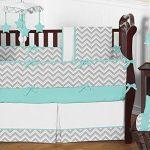 Turquoise-and-Gray-Chevron-Zig-Zag-Fabric-MemoryMemo-Photo-Bulletin-Board-by-Sweet-Jojo-Designs-0-0