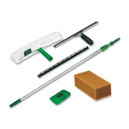 Unger-Pro-Window-Cleaning-Kit-with-8-Foot-Pole-Scrubber-Squeegee-Scraper-Sponge-PWK00-0