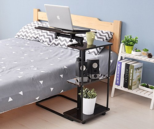 Unicoo-Multi-Function-Height-Adjustable-Overbed-Table-Sofa-table-Laptop-Cart-0