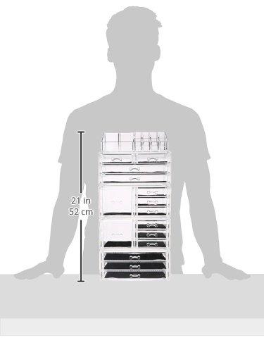 Unique-Home-Acrylic-Jewelry-Cosmetic-Storage-Makeup-Organizer-5-Piece-Set-0-0
