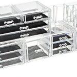 Unique-Home-Acrylic-Jewelry-Cosmetic-Storage-Makeup-Organizer-5-Piece-Set-0