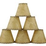 Urbanest-1100504c-Chandelier-Lamp-Shades-6-inch-Hardback-Faux-Leather-Laced-Trim-Clip-on-Set-of-6-0