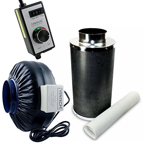 VenTech-VT-IF6CF6-B-Inline-Exhaust-Blower-Fan-with-Carbon-Filter-and-Variable-Speed-Controller-440-CFM-6-0