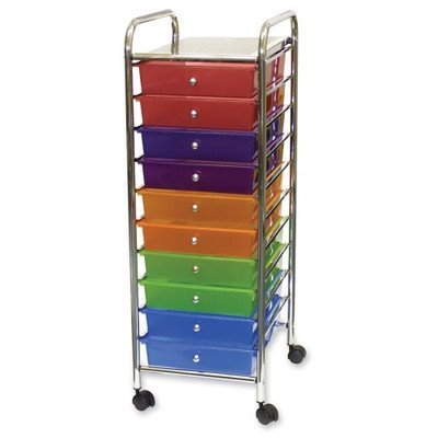 Vertiflex-3-Drawer-Rolling-File-Organizer-Cart-27-x-155-x-13-Inches-Multi-Colored-34081-0