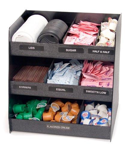 Vertiflex-Vertical-3-Shelf-Condiment-Organizer-9-Compartments-145-x-1175-x-15-Inches-Black-VFC-1515-0