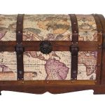 Victorian-Ancient-World-Map-Wooden-Trunk-Wood-Treasure-Chest-0-0