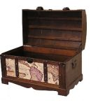Victorian-Ancient-World-Map-Wooden-Trunk-Wood-Treasure-Chest-0-1