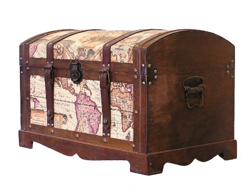 Victorian-Ancient-World-Map-Wooden-Trunk-Wood-Treasure-Chest-0