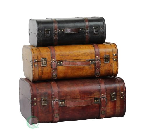 VintiquewiseTM-3-Colored-Vintage-Style-Luggage-SuitcaseTrunk-Set-of-3-0