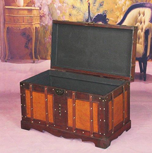 VintiquewiseTM-Antique-Style-Steamer-Trunk-0-1