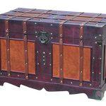 VintiquewiseTM-Antique-Style-Steamer-Trunk-0