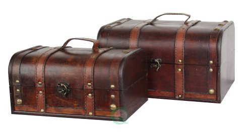 VintiquewiseTM-Decorative-Wood-Treasure-Box-Wooden-Trunk-Chest-0