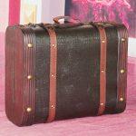 VintiquewiseTM-Decorative-Wooden-Leather-Suitcase-0-0