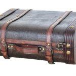 VintiquewiseTM-Decorative-Wooden-Leather-Suitcase-0