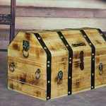VintiquewiseTM-Large-Wooden-Pirate-Lockable-Trunk-with-Lion-Rings-0-0