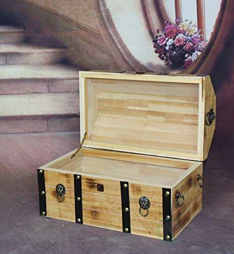 VintiquewiseTM-Large-Wooden-Pirate-Lockable-Trunk-with-Lion-Rings-0-1