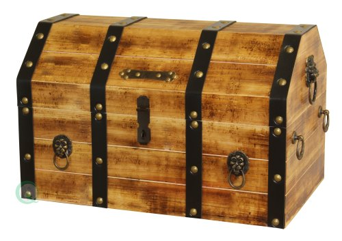 VintiquewiseTM-Large-Wooden-Pirate-Lockable-Trunk-with-Lion-Rings-0
