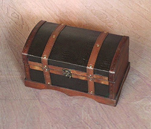 VintiquewiseTM-Leather-Wooden-ChestTrunk-0-0