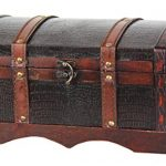 VintiquewiseTM-Leather-Wooden-ChestTrunk-0